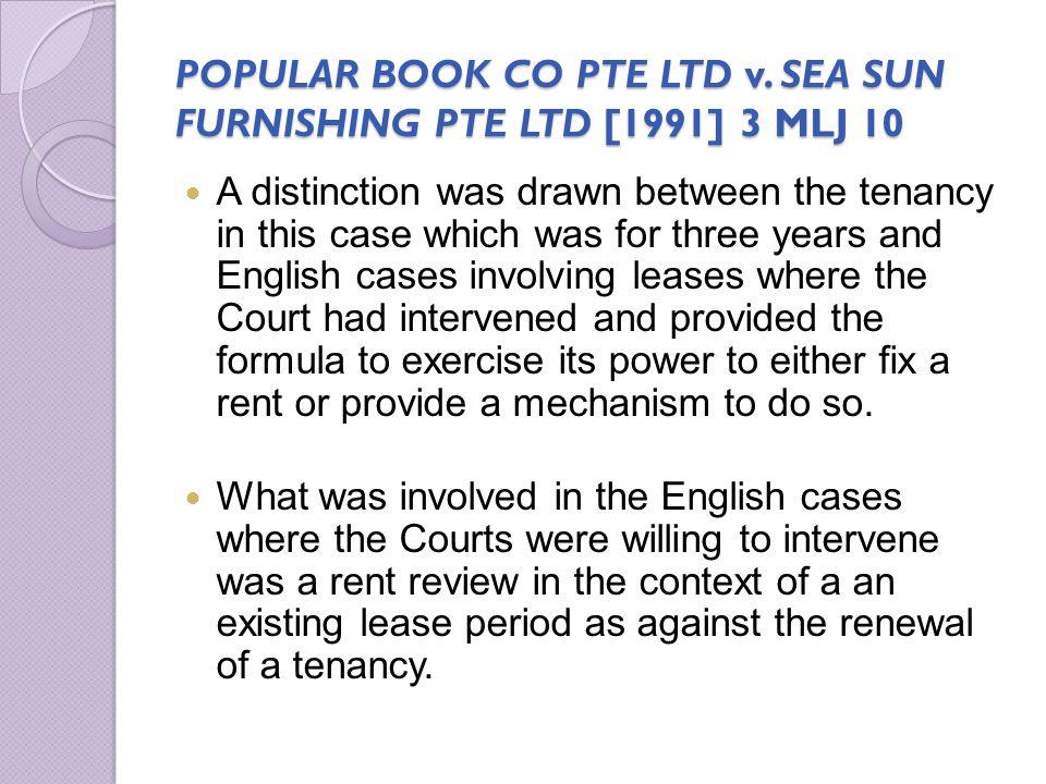 POPULAR BOOK CO PTE LTD v. SEA SUN FURNISHING PTE LTD [1991] 3 MLJ 10